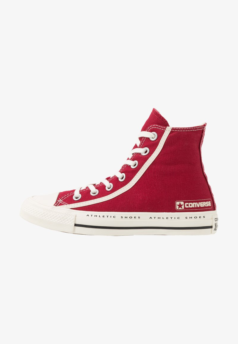 Converse - CHUCK TAYLOR ALL STAR LOGO PACK - Höga sneakers - gym red/egret/black