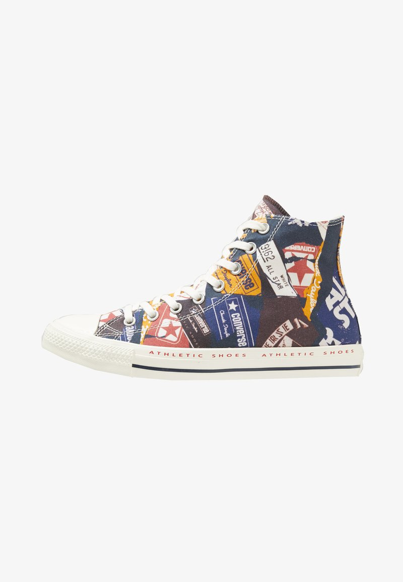 Converse - CHUCK TAYLOR ALL STAR HI LOGO PACK - High-top trainers - egret/multi/navy