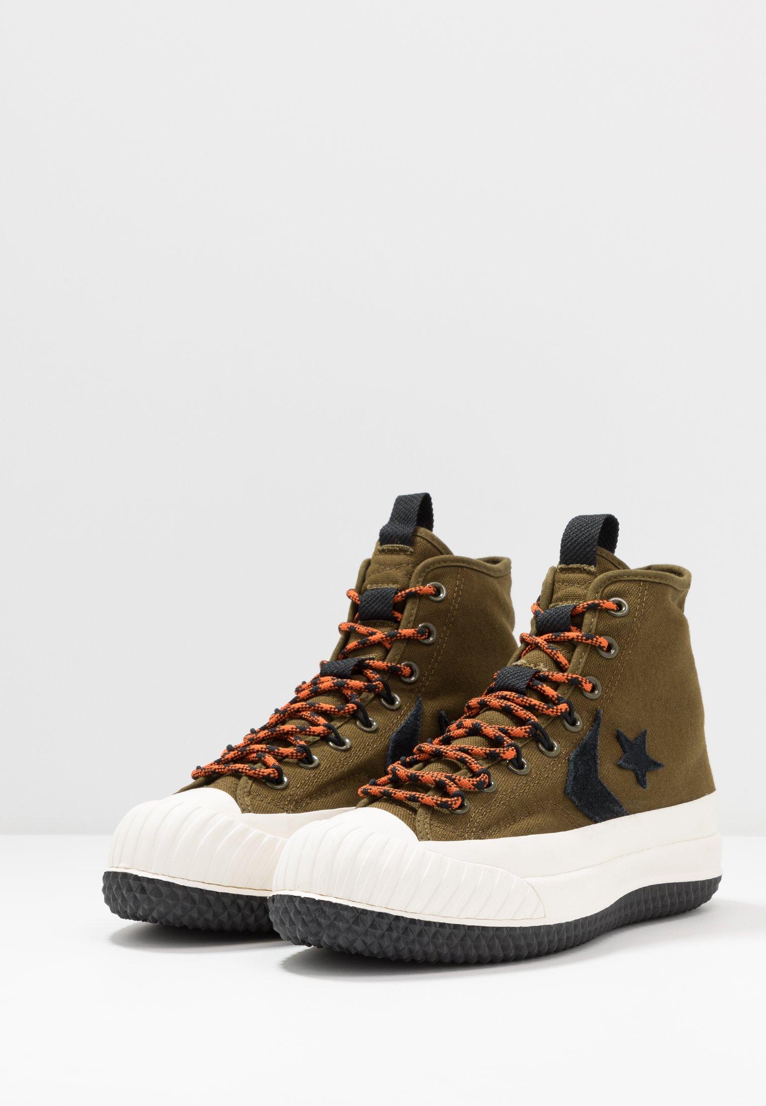 Converse BOSEY MC WATER REPELLENT - Baskets montantes surplus olive/campfire orange/black