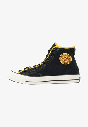 CHUCK 70 ARCHIVAL TERRY - Sneakers alte - black/vivid sulfur/egret