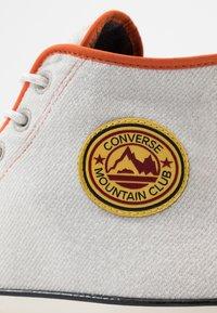 Converse - CHUCK 70 ARCHIVAL TERRY - Zapatillas altas - pale putty/campfire orange/white - 5