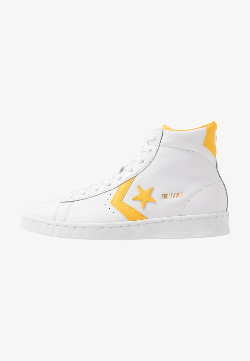 Converse - PRO LEATHER - Sneaker high - white/amarillo