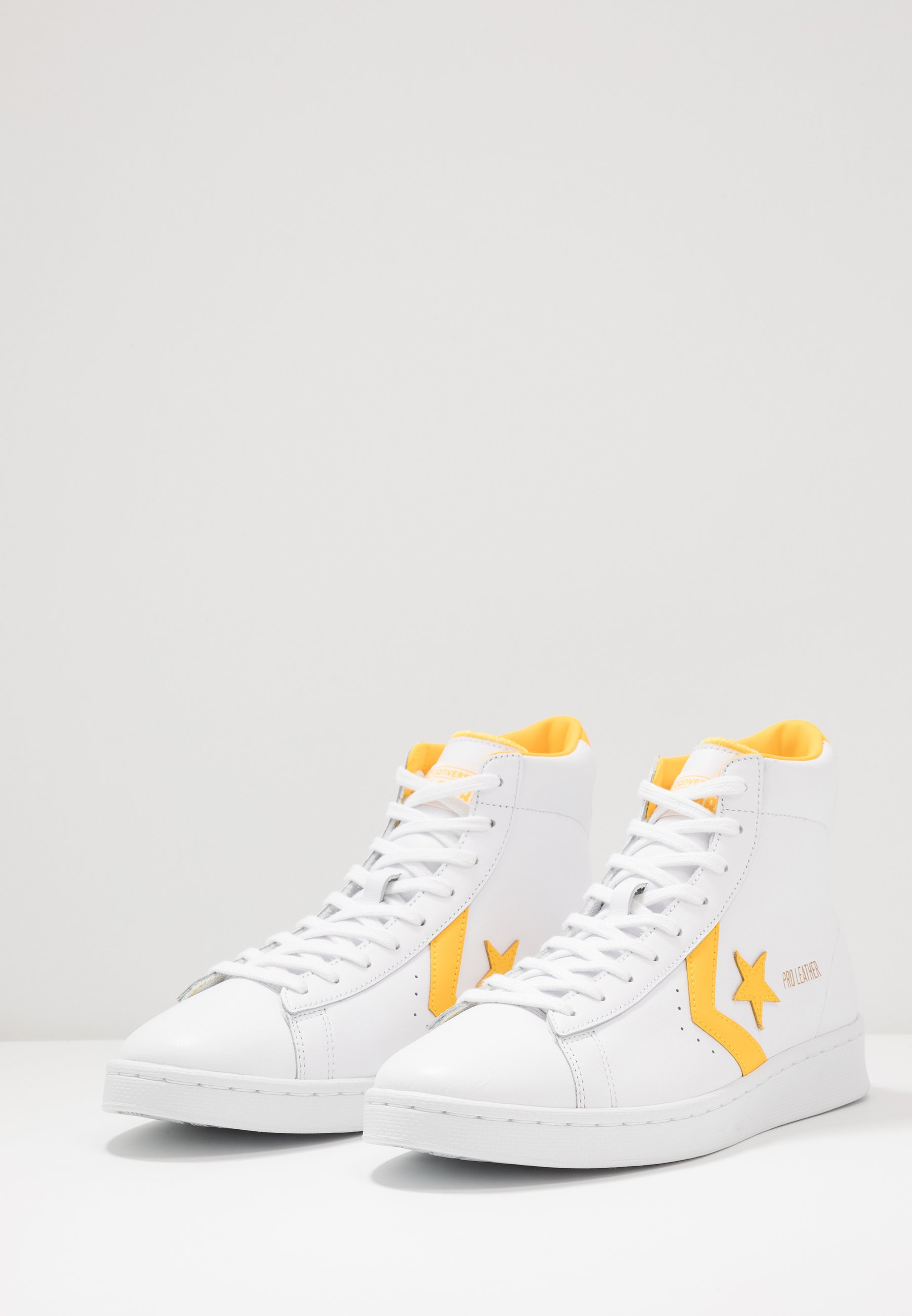 Converse PRO LEATHER - Sneakersy wysokie - white/amarillo