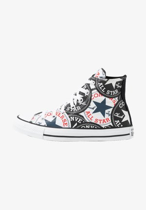 CHUCK TAYLOR ALL STAR - Korkeavartiset tennarit - black/multicolor/white