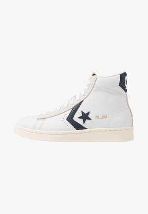 PRO LEATHER - High-top trainers - white/obsidian/egret