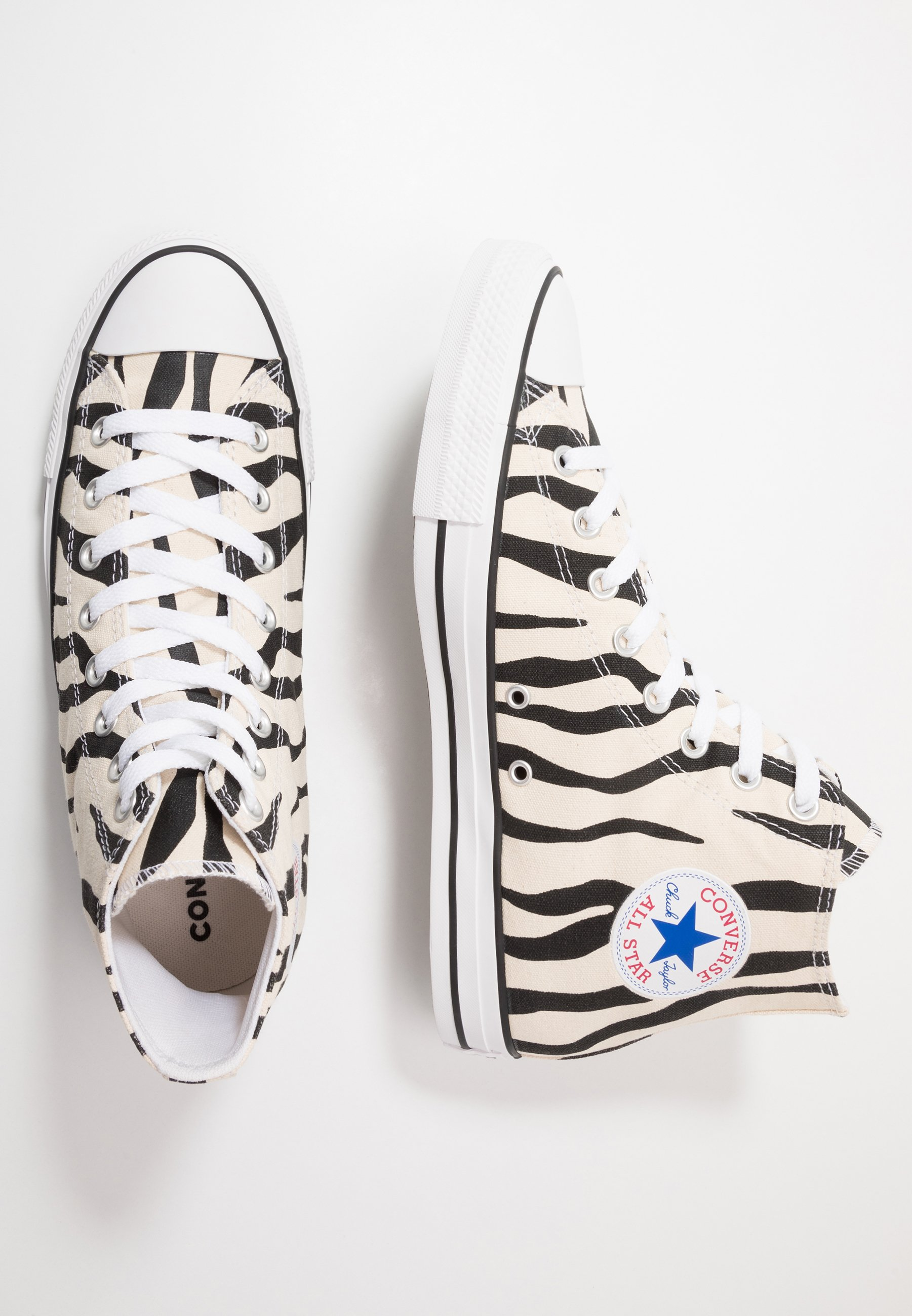Converse CHUCK TAYLOR ALL STAR - Sneakersy wysokie - black/white