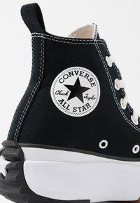 Converse - RUN STAR HIKE - High-top trainers - black/white/gum - 2