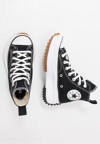 Converse - RUN STAR HIKE - High-top trainers - black/white/gum - 5