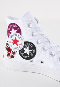 Converse - CHUCK TAYLOR ALL STAR  - High-top trainers - white/rush blue/rose maroon - 2