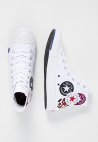 Converse - CHUCK TAYLOR ALL STAR  - High-top trainers - white/rush blue/rose maroon - 5