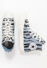 Converse - CHUCK TAYLOR ALL STAR - High-top trainers - blue slate/black/egret - 1