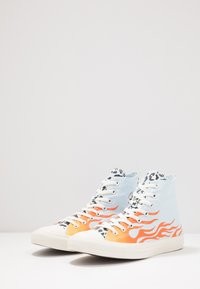 Converse - CHUCK TAYLOR ALL STAR - Sneakers hoog - agate blue/black/total orange - 2