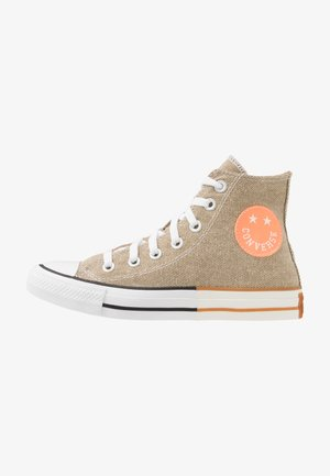 CHUCK TAYLOR ALL STAR - Sneakersy wysokie - khaki/total orange/white