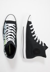 Converse - CHUCK TAYLOR ALL STAR - High-top trainers - black/lemongrass/white - 1
