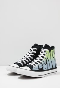 Converse - CHUCK TAYLOR ALL STAR - High-top trainers - black/lemongrass/white - 2