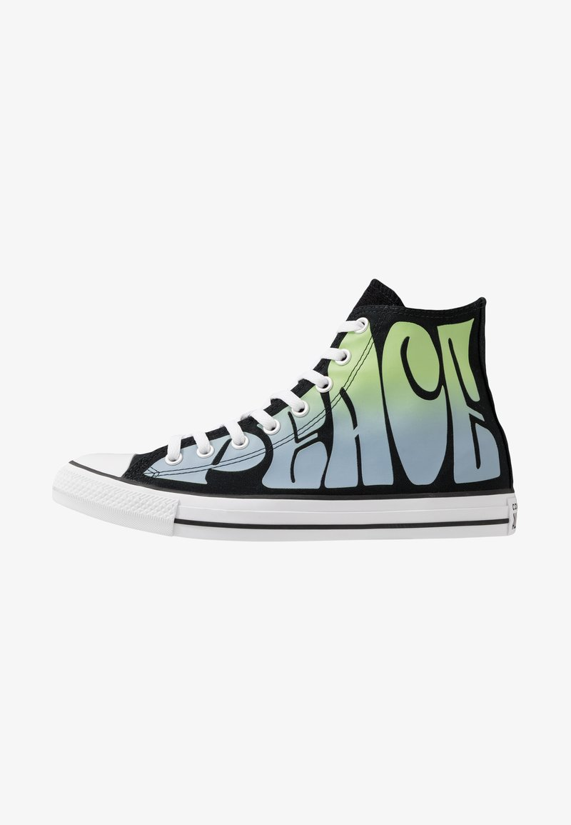 Converse - CHUCK TAYLOR ALL STAR - High-top trainers - black/lemongrass/white