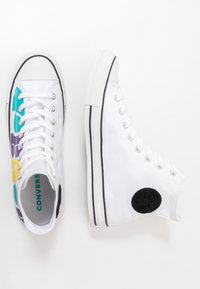 Converse - CHUCK TAYLOR ALL STAR - High-top trainers - white/court purple/amarillo - 1