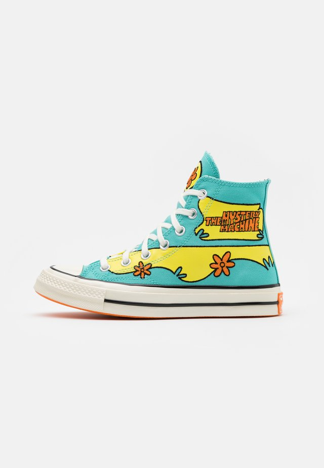 CHUCK TAYLOR ALL STAR 70 - Høye joggesko - turquoise/yellow