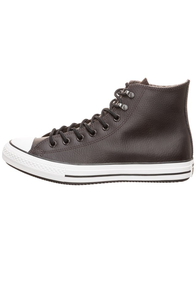 CONVERSE CHUCK TAYLOR ALL STAR WINTER LEATHER HI SNEAKER - Zapatillas altas - velvet brown / white / black