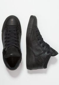 Converse - CHUCK TAYLOR ALL STAR STREET - Korkeavartiset tennarit - black - 1