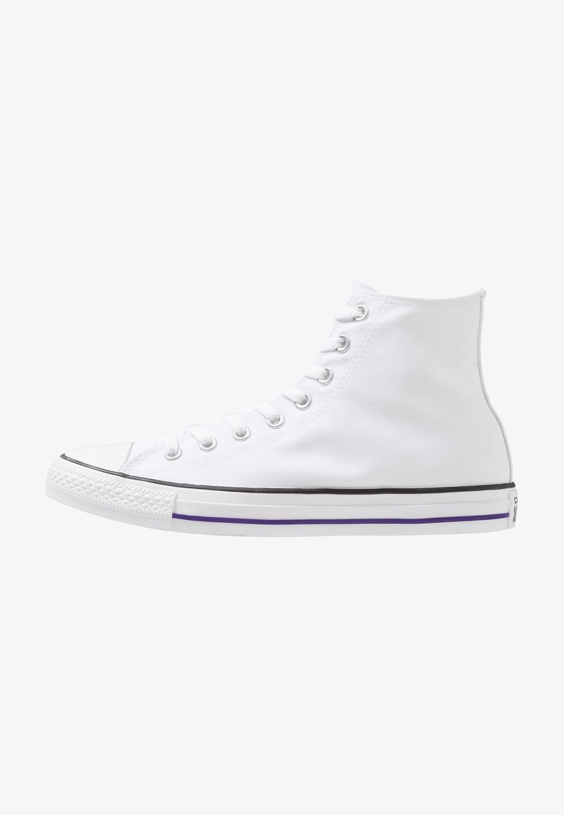 Converse - CHUCK TAYLOR ALL STAR HI - High-top trainers - white/purple
