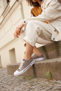 Converse - CHUCK TAYLOR ALL STAR RENEW - Sneakers laag - mason taupe/black/white - 8