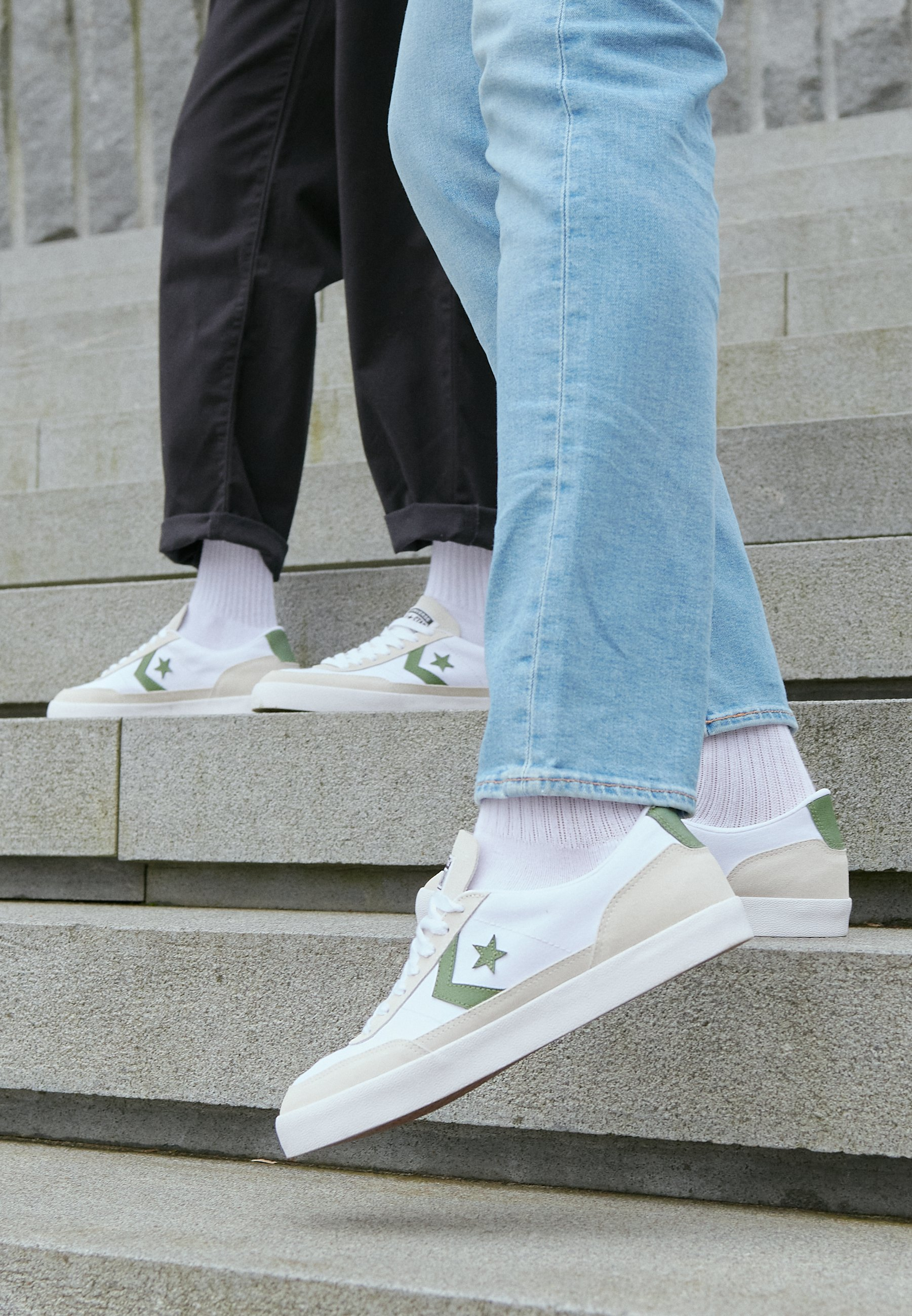 Converse Net Star - Sneakers White/cypress Green/egret