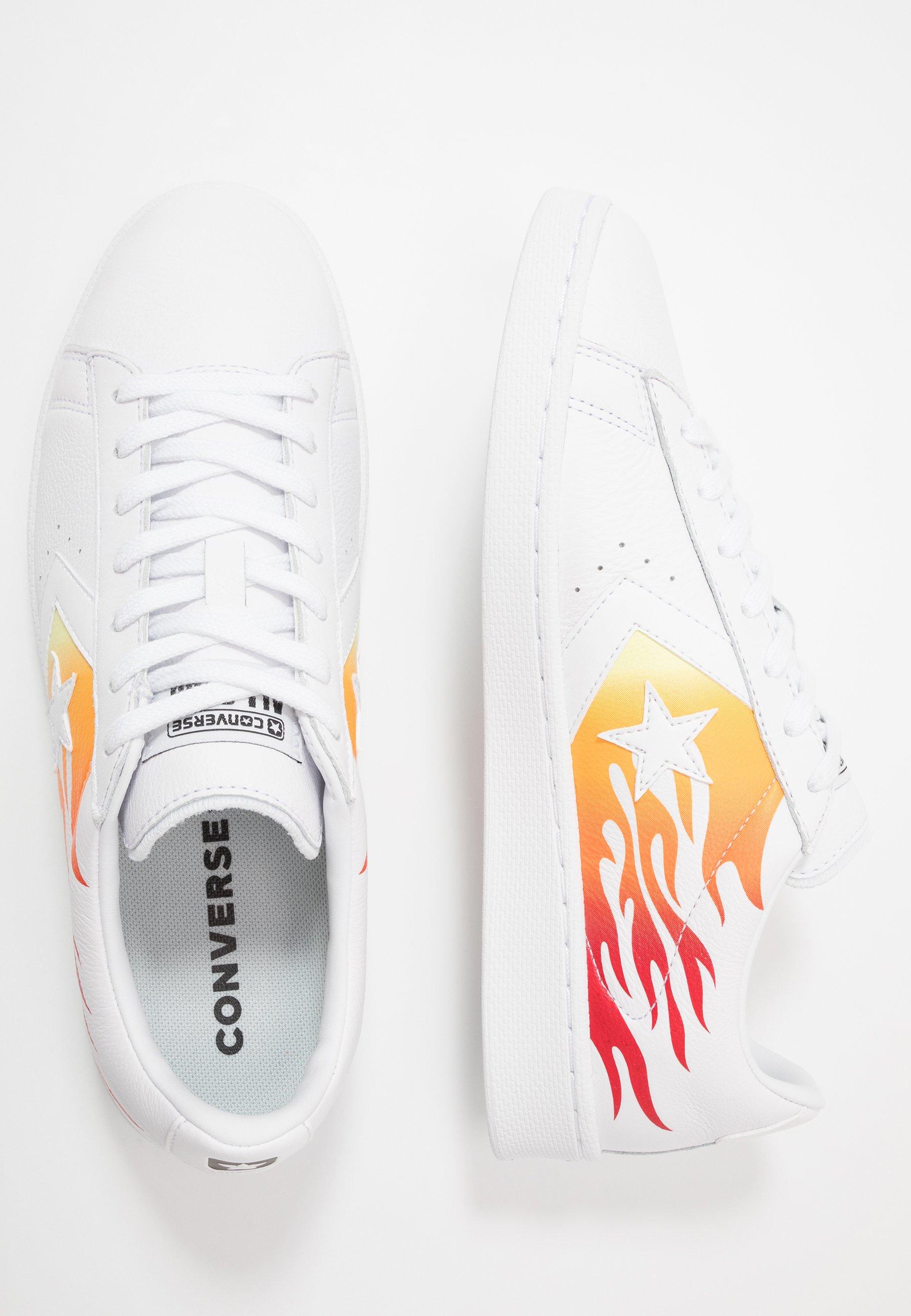 Converse PRO LEATHER  - Baskets basses - white/bold mandarin/enamel red