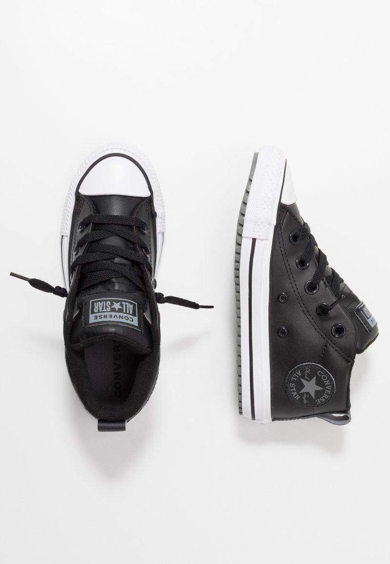 Converse - CHUCK TAYLOR ALL STAR STREET WARMTH HI - Sneakers alte - black/dark concrete/white