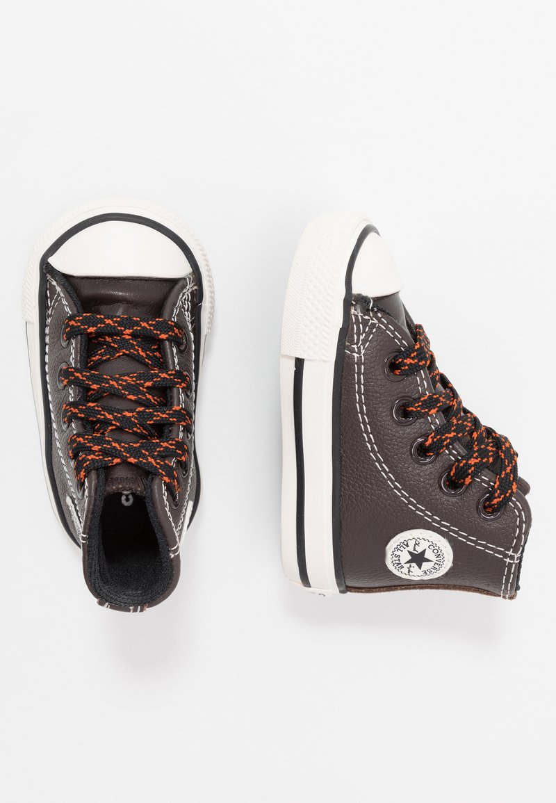 Converse - CHUCK TAYLOR ALL STAR TUMBLED - Sneakers alte - velvet brown/campfire orange