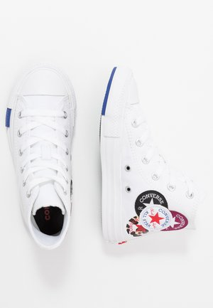CHUCK TAYLOR ALL STAR LOGO PLAY - Zapatillas altas - white/rush blue/rose maroon