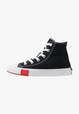 CHUCK TAYLOR ALL STAR LOGO PLAY - High-top trainers - black/university red/amarillo