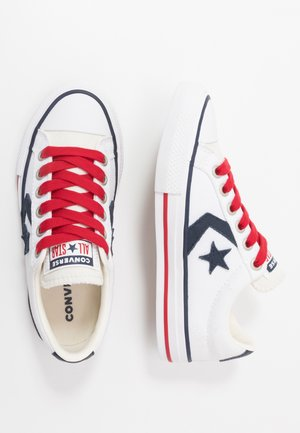 STAR PLAYER - Baskets basses - white/obsidian/gym red