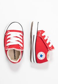 Converse - CHUCK TAYLOR ALL STAR CRIBSTER MID - Chaussons pour bébé - university red/natural ivory/white - 0