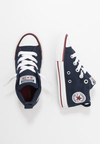 Converse - CHUCK TAYLOR ALL STAR STREET VARSITY MID - High-top trainers - obsidian/white/team red - 0