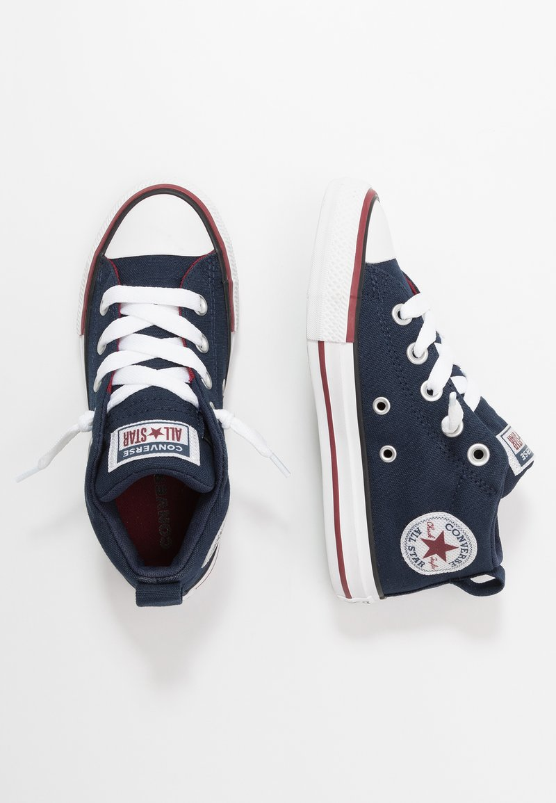 Converse - CHUCK TAYLOR ALL STAR STREET VARSITY MID - High-top trainers - obsidian/white/team red