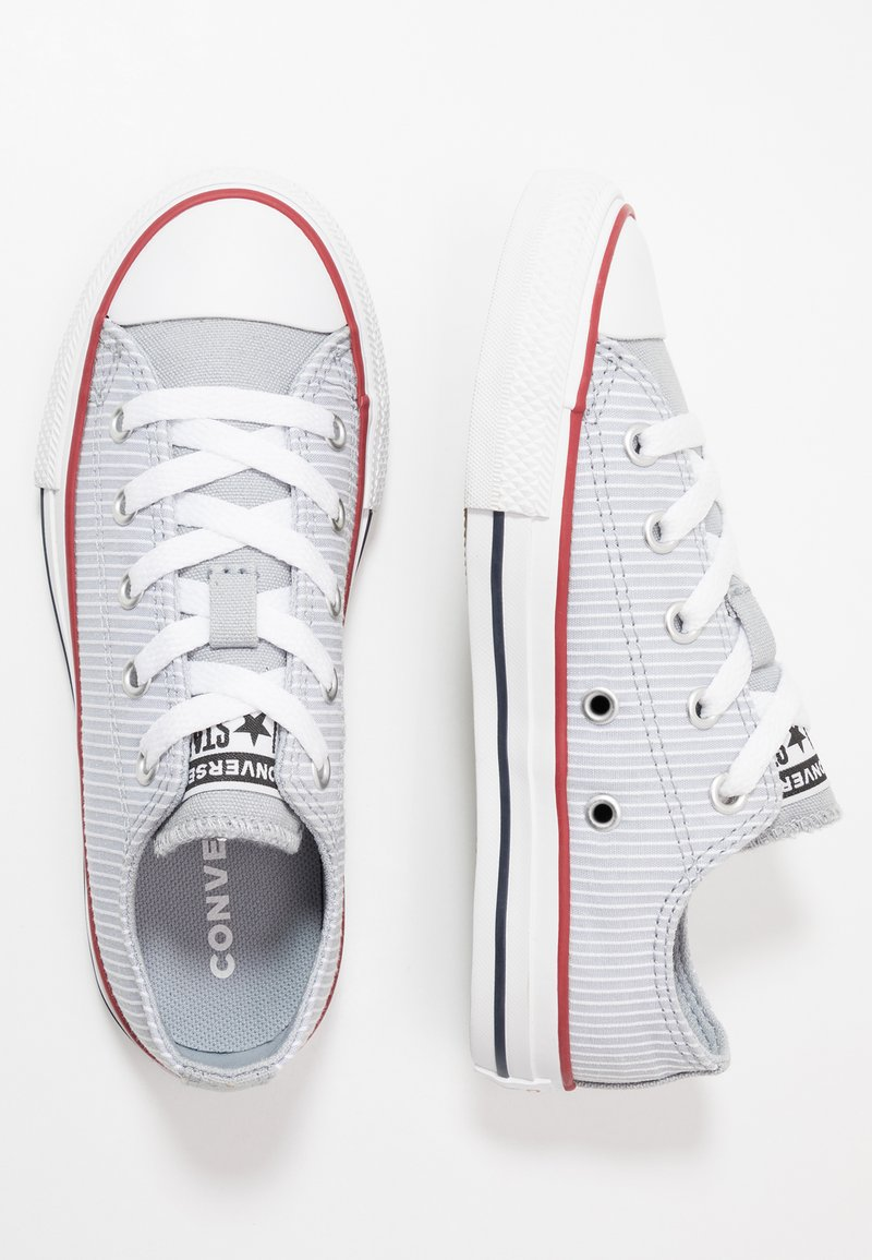 Converse - CHUCK TAYLOR ALL STAR PINSTRIPE - Sneakers basse - wolf grey/garnet/white
