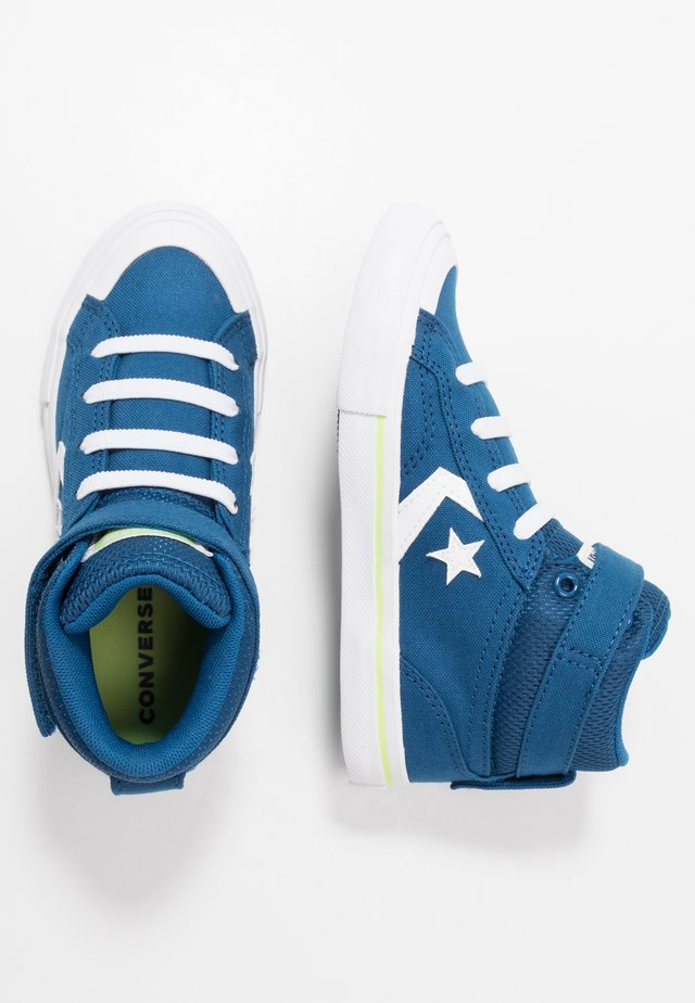 PRO BLAZE STRAP - High-top trainers - court blue/white/lemongrass