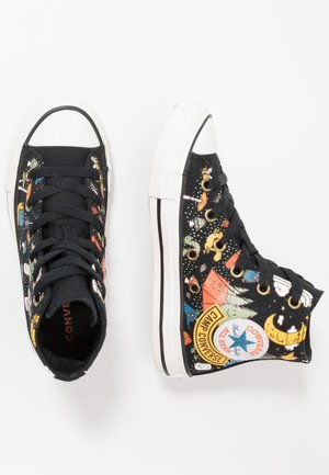 CHUCK TAYLOR ALL STAR - Zapatillas altas - black/bold mandarin/amarillo