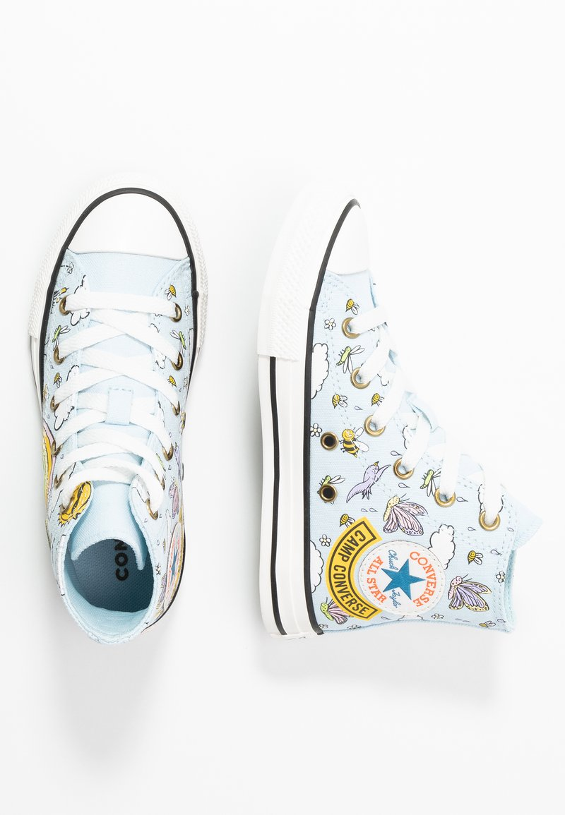 Converse - CHUCK TAYLOR ALL STAR - High-top trainers - agate blue/vintage white/black