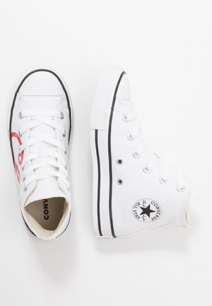 CHUCK TAYLOR ALL STAR - Sneakersy wysokie - white/university red