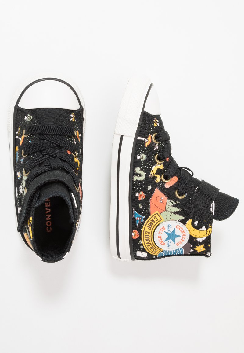 Converse - CHUCK TAYLOR ALL STAR - Sneakersy wysokie - black/bold mandarin/amarillo