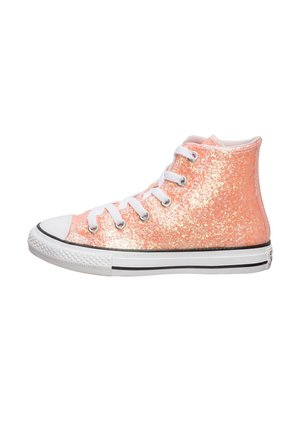 CHUCK TAYLOR ALL STAR COATED GLITTER HIGH SNEAKER - Zapatillas altas - barely rose / black / white