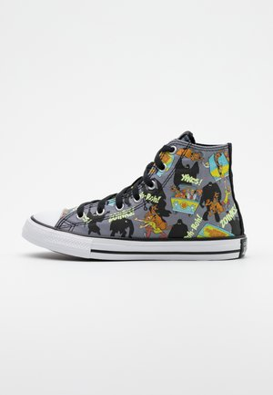 CHUCK TAYLOR SCOOBY MYSTERY MACHINE - Sneakersy wysokie - almost black/white/multicolor