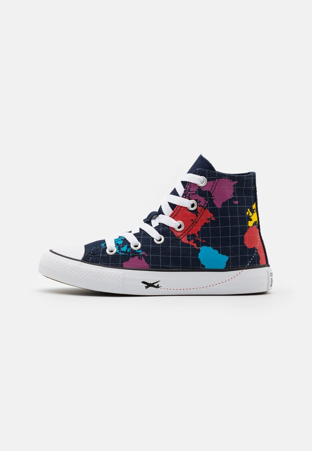 CHUCK TAYLOR ALL STAR WORLDWIDE UNISEX - Zapatillas altas - obsidian/sail blue/university red