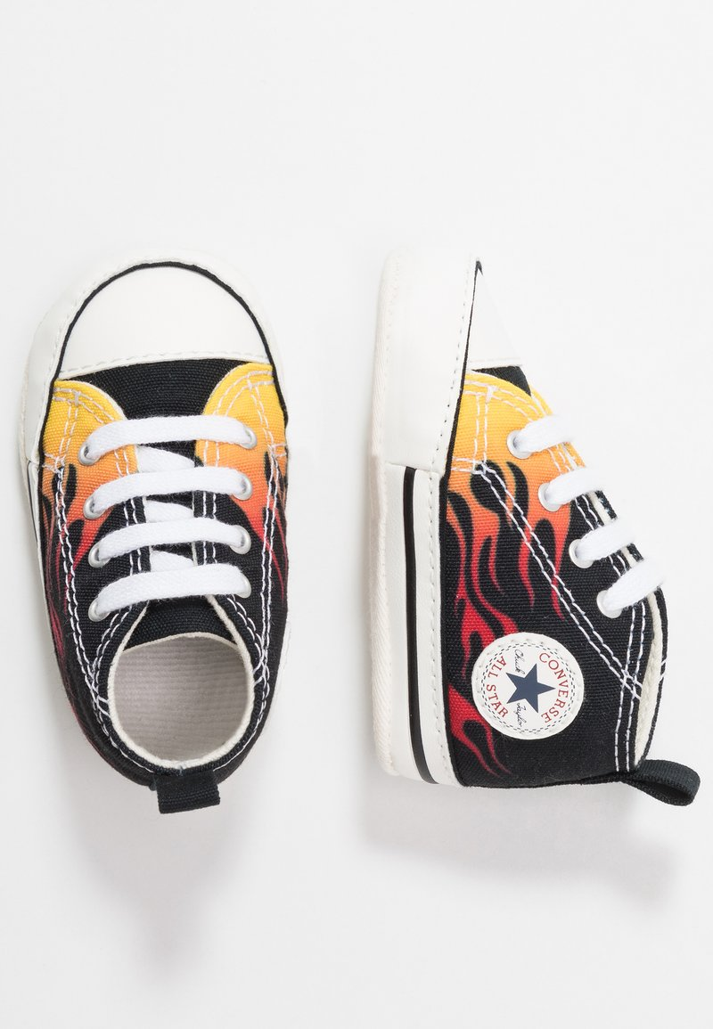 Converse - CHUCK TAYLOR FIRST STAR - First shoes - black/freesia/true red