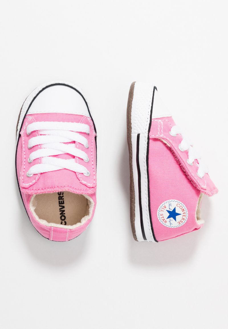 Converse - CHUCK TAYLOR ALL STAR CRIBSTER MID - Chaussons pour bébé - pink/natural ivory/white