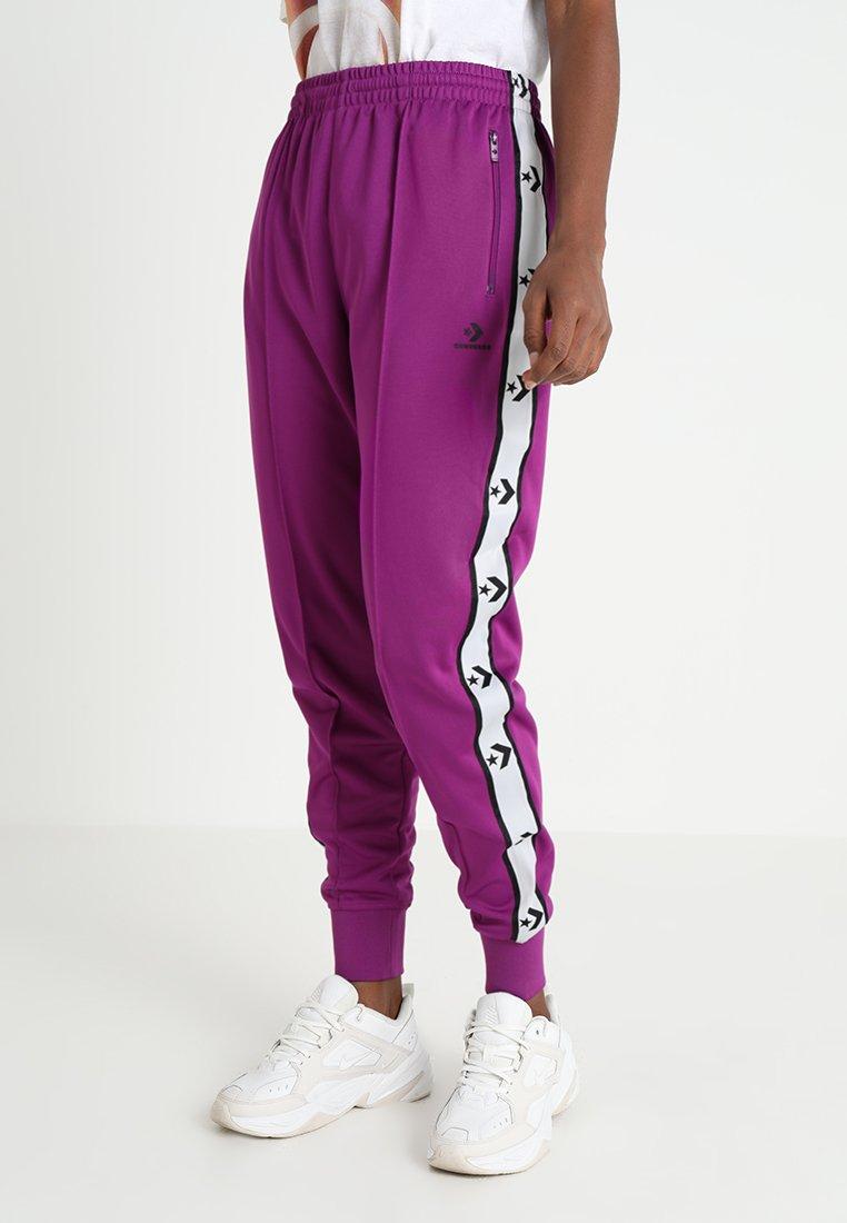 Converse - STAR CHEVRON TRACK PANT - Teplákové kalhoty - berry