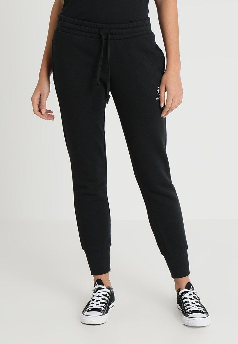 Converse - STAR CHEVRON SIGNATURE PANT - Tracksuit bottoms - black
