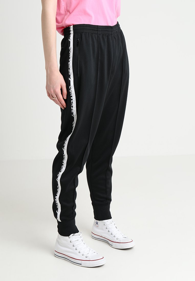 Converse - STAR CHEVRON CUFFED TRACK PANT - Teplákové kalhoty - black